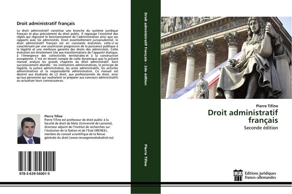 Parution de la 2de édition du Droit administratif français